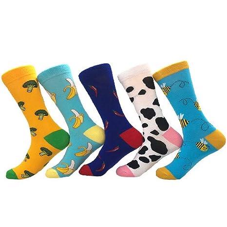 Zhou Yunshan Otoño e Invierno Nuevos Hombres y Mujeres Calcetines Calcetines Largos Calcetines de algodón Color