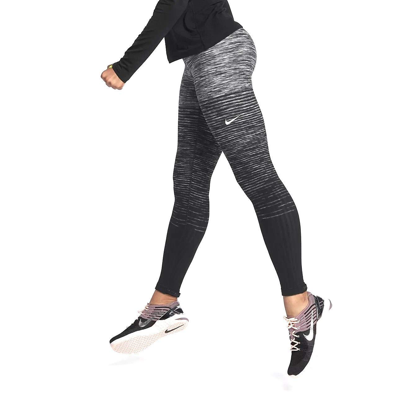 2b73bf382b389 NIKE Women's Pro Hyperwarm Fleece Printed Athletic Tights Leggings -