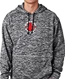 made in detroit - Made In Detroit Pull Over Hoodie - Mid - Cosmic Charcoal Fleck w/Red - Large