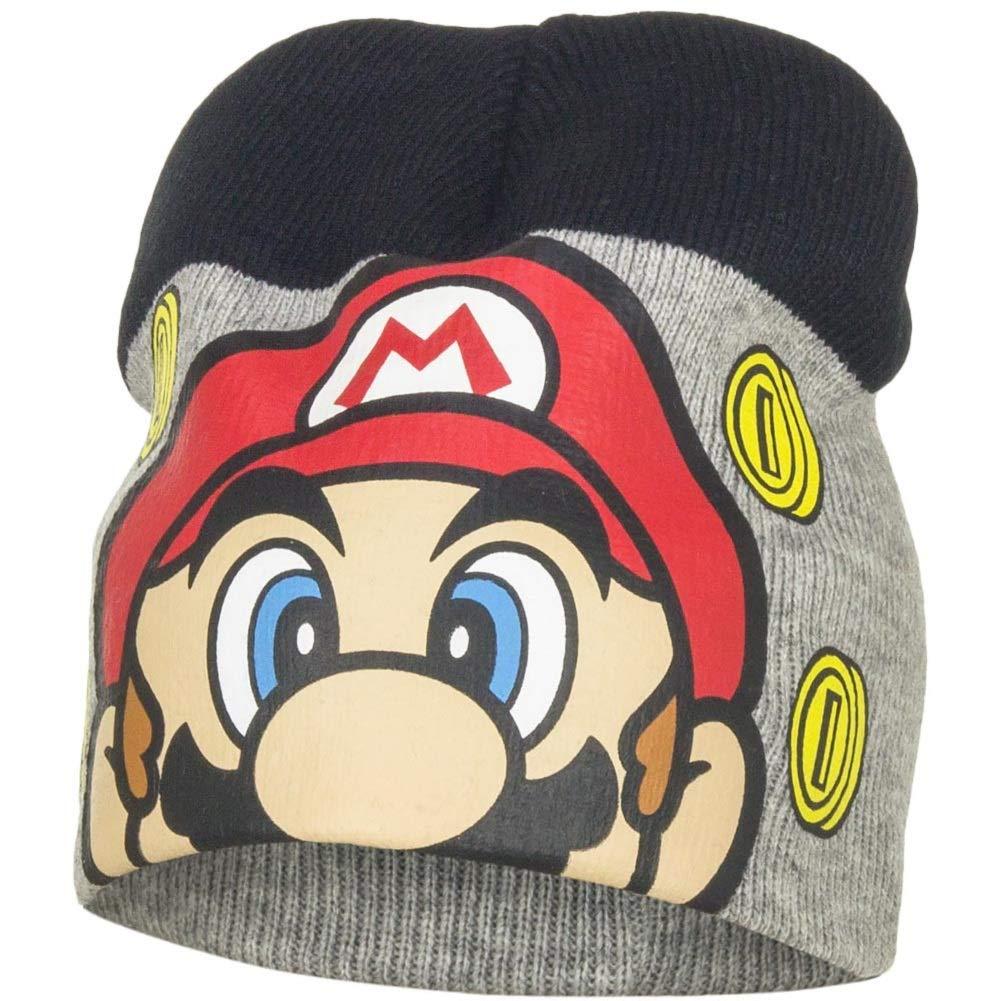 7079be9ff1f9f Boys Kids Super Mario Winter Hat Glove Set 4 5 6 7 Years Fleece Cold ...