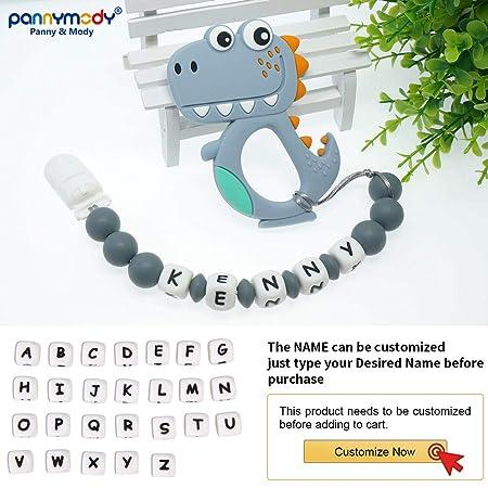 Amazon.com: Clip de chupete personalizado con nombre, clip ...
