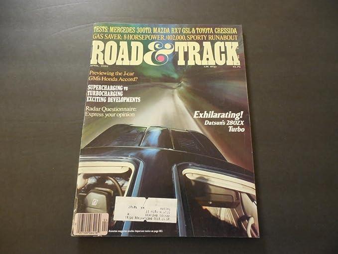 Road Track Apr 1981 Datsun 280ZX Turbo; Mercedes 300TD; RX-7; Radar
