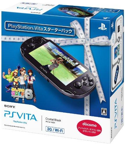 플레이 스테이션 비타 3G | WI-FI 모델 크리스탈 블랙 스타터 팩(PCHJ-10003)