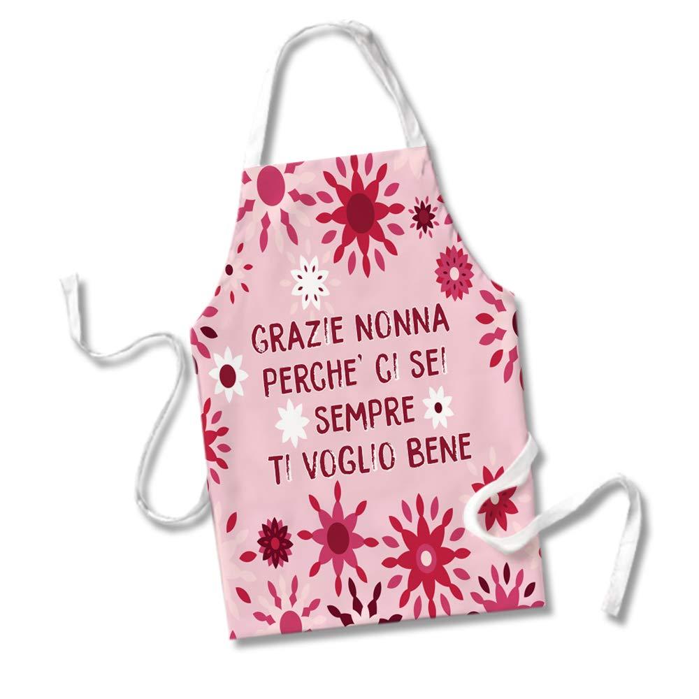 Grembiule da Cucina Idea Regalo Festa dei Nonni Grazie Nonna Perche Ci Sei Sempre Ti Voglio Bene