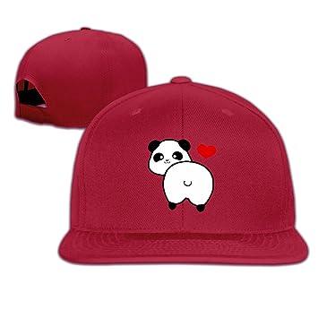 0a8a5c18eab I Love Panda Butt Hip Hop Hats Youth Caps Adjustable Baseball Caps Red   Amazon.ca  Sports   Outdoors