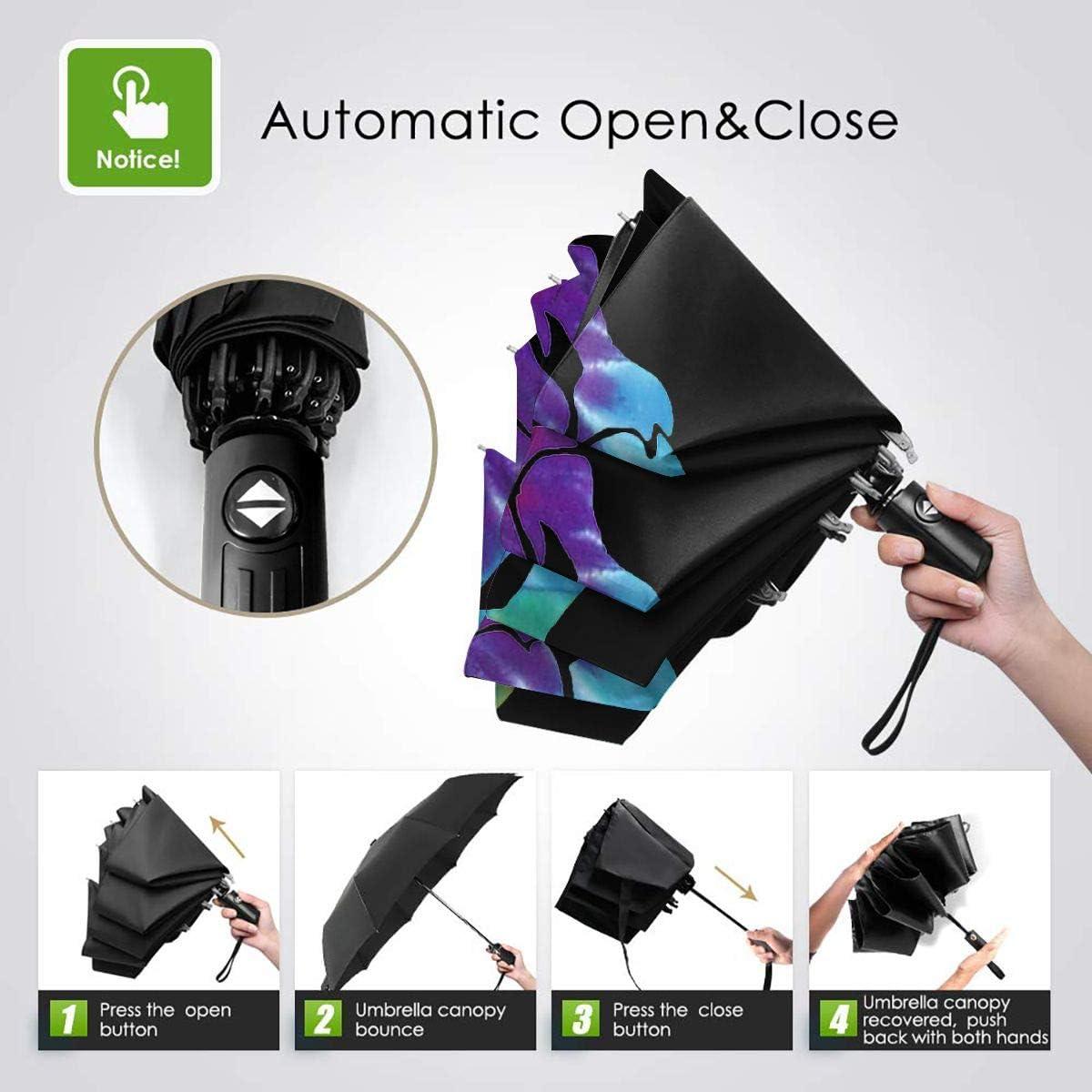 Middle Finger Skeleton Fuck Automatic Tri-Fold Umbrella Parasol Sun Umbrella Sunshade