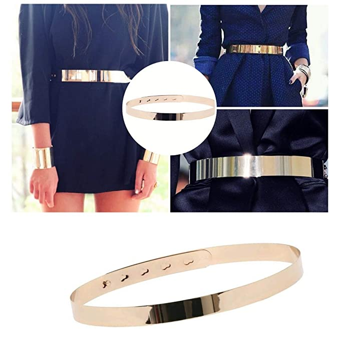 2b6e9586b56 GOLD BELT For Women Adjustable Gold Mirror Belt for women dresses by Hybrid  Fashionista Gold Accessories