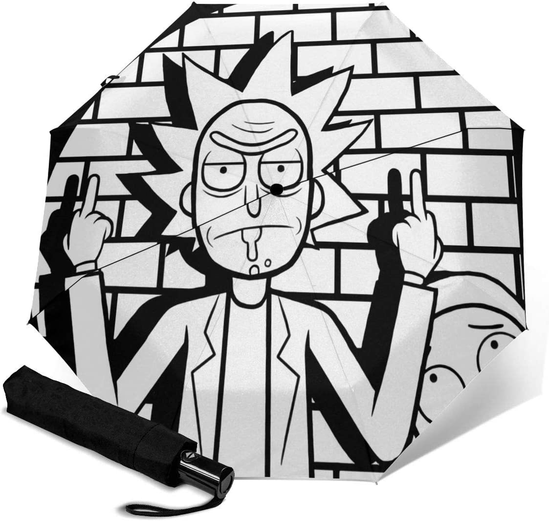 NOT Rick N Morty2 Automatic Tri-fold Umbrella
