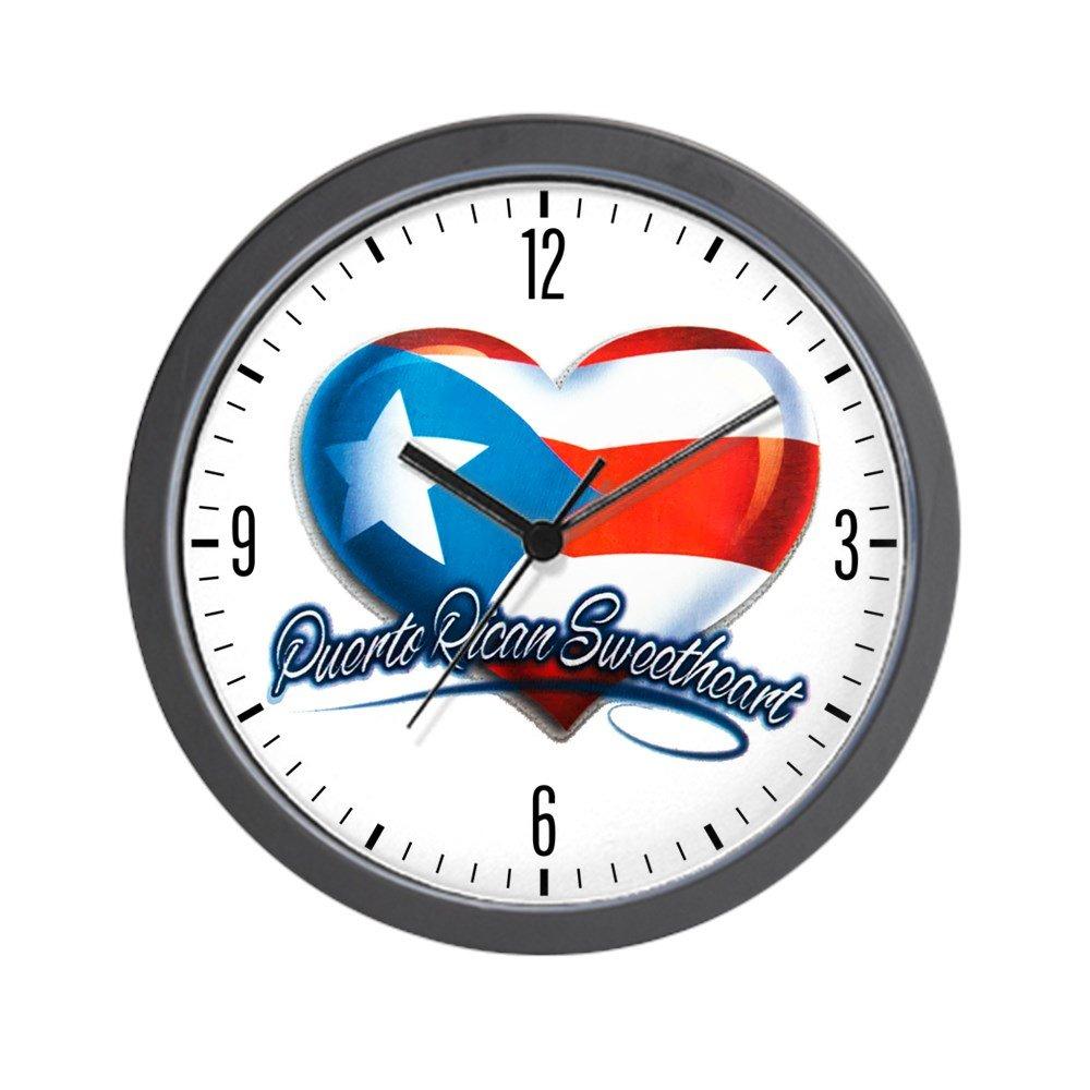 Wall Clock Puerto Rican Sweetheart Rico Flag