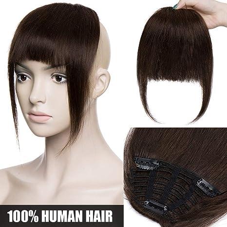 Frange a Clip Cheveux Naturel Extension en