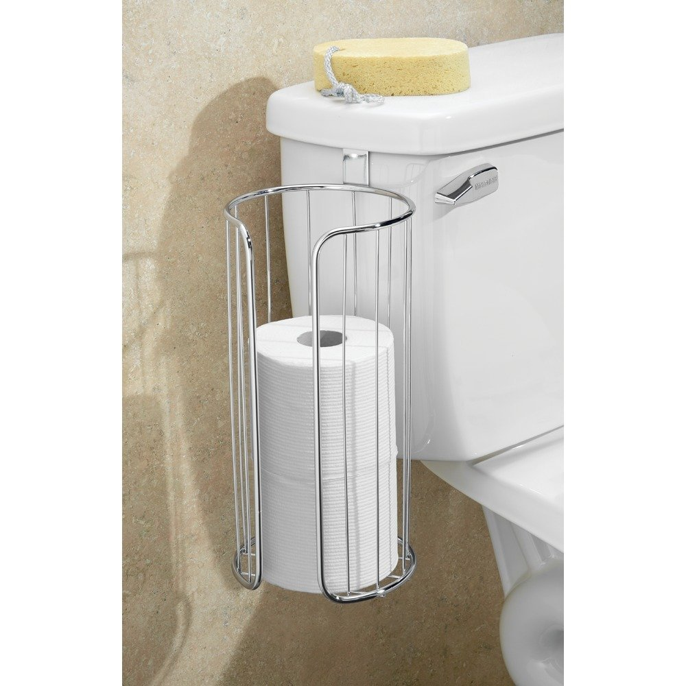 Amazon.com: InterDesign Classico Over Tank Toilet Paper Holder ...