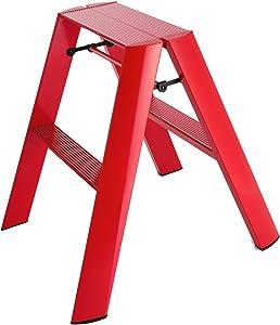 Hasegawa LaddersLucano Stepladder, 2 Step, Red