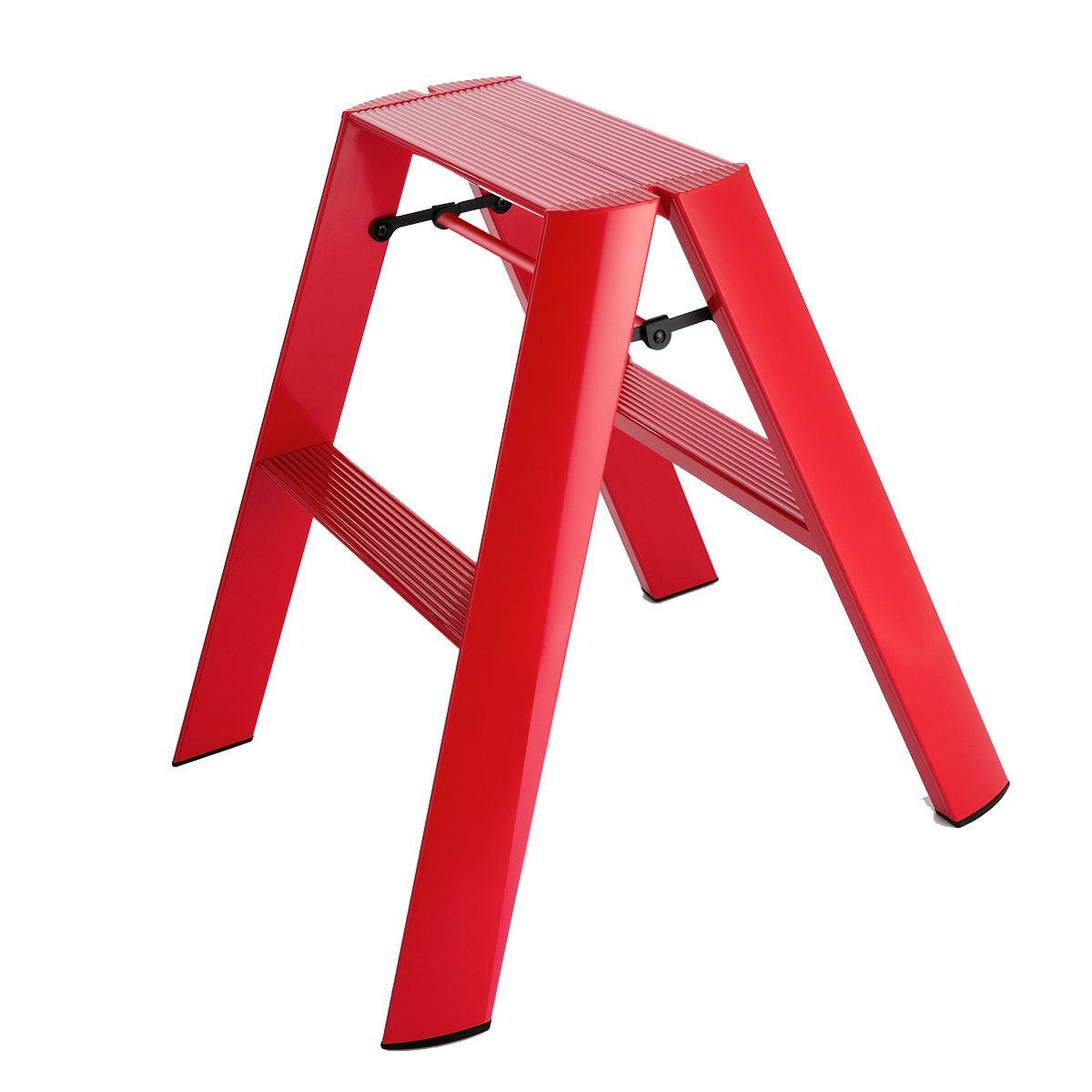 Hasegawa Ladders Lucano Stepladder 2 Step Red