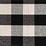 Ustide 100% Cotton Washable Rugs Black and White Plaid Rug for Kitchen/ Bathroom/ Entry Way/ Laundry Room/ Living...