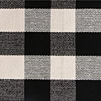 Ustide 2x3 Black and White Plaid Rugs Washable Handmade Rug for Kitchen/ Bathroom/ Entry Way/ Laundry Room/ Living Room