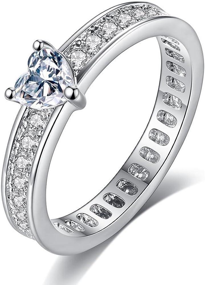 Majesto Conjunto de Anillos de 2 Matrimonio Compromiso para Mujer ...