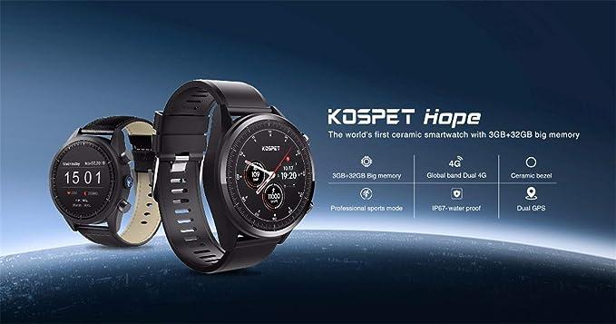 ZLOPV Pulsera 4g Smart Watch KOSPET Hope Android 7.1 GPS ...