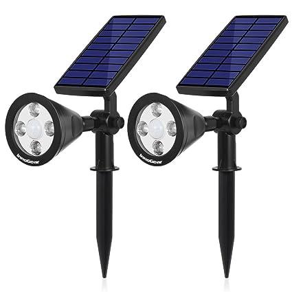 InnoGear 3rd Generation Motion Sensor Solar Lights Outdoor Spotlight  Outside Landscape Garden Light LED Security Lighting