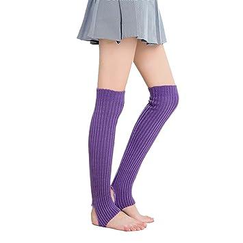 ECYC Para Mujer Calcetines De Punto Calzadores De Rodilla De ...