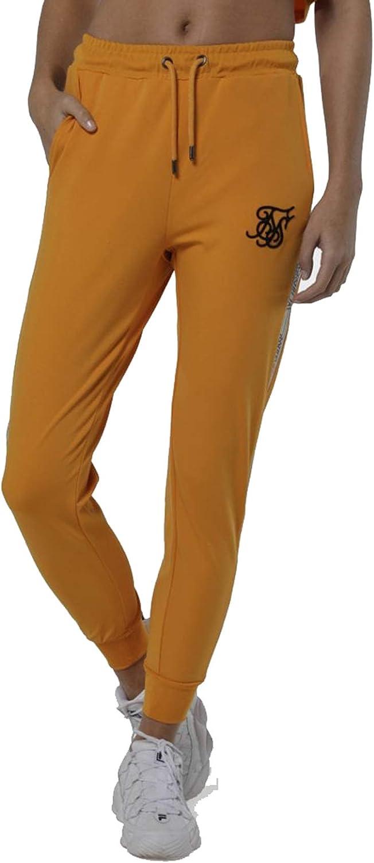 Sik Silk Pantalon Chandal Mujer Mostaza Jogger Runner: Amazon.es ...