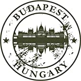 Budapest Hungary Europe Travel Retro Rubber Stamp Sticker Decal Design 5