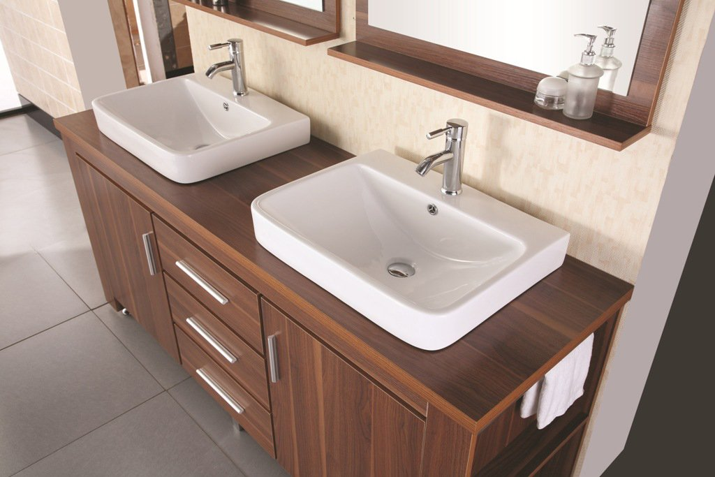 double vessel sink vanity. Design Element Washington Double Drop In Vessel Sink Vanity Set with Five  Drawers and Espresso Finish 96 Inch Bathroom Vanities Amazon com