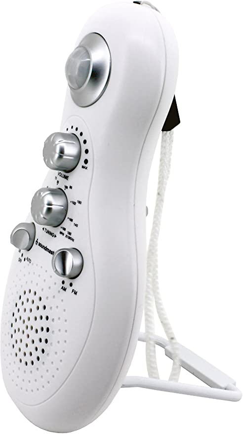Soundmaster BR40WS Badezimmerradio mit Sensor//Bewegungsmelder Weiss