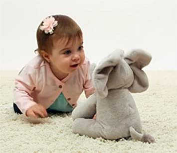 Ularma Elefante Peluche Peluche Canto Rellenos Animados Animales Bebé Juguete Niños Muñeca Regalo (Gris)