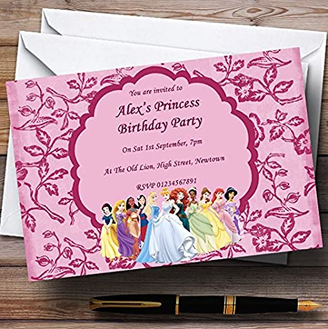 Amazon.com: Rosa Princesa Tema personalizado fiesta de ...