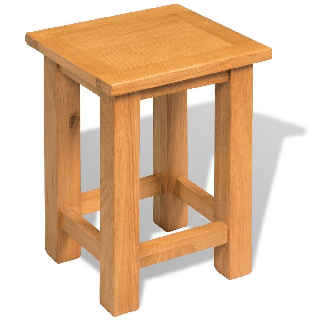 Festnight Garden Outdoor Coffee Side Table End Table Solid Oak 27x24x37 cm