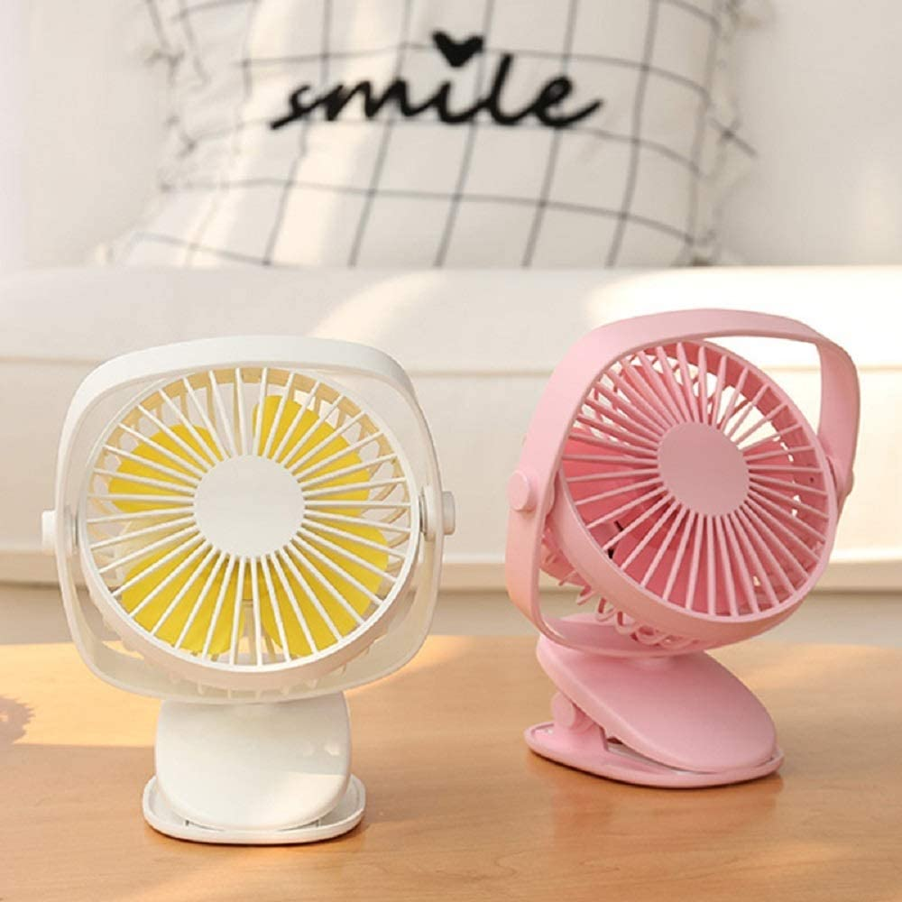 USB Table Desk Personal Fan Mini USB Clip and Desk Fan 3 Speeds for Desktop Tabletop Office Quiet 360/° Up and Down Small Table Fan with Switch On//Off /& Travel for Home Office Table