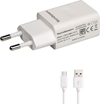 Cargador Sector a USB Color Blanco + Cable USB 1 M para libros ...