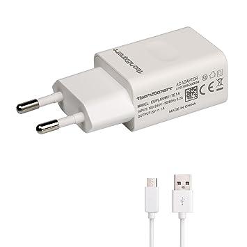 Cargador Sector a USB Color Blanco + Cable USB 1 M para ...