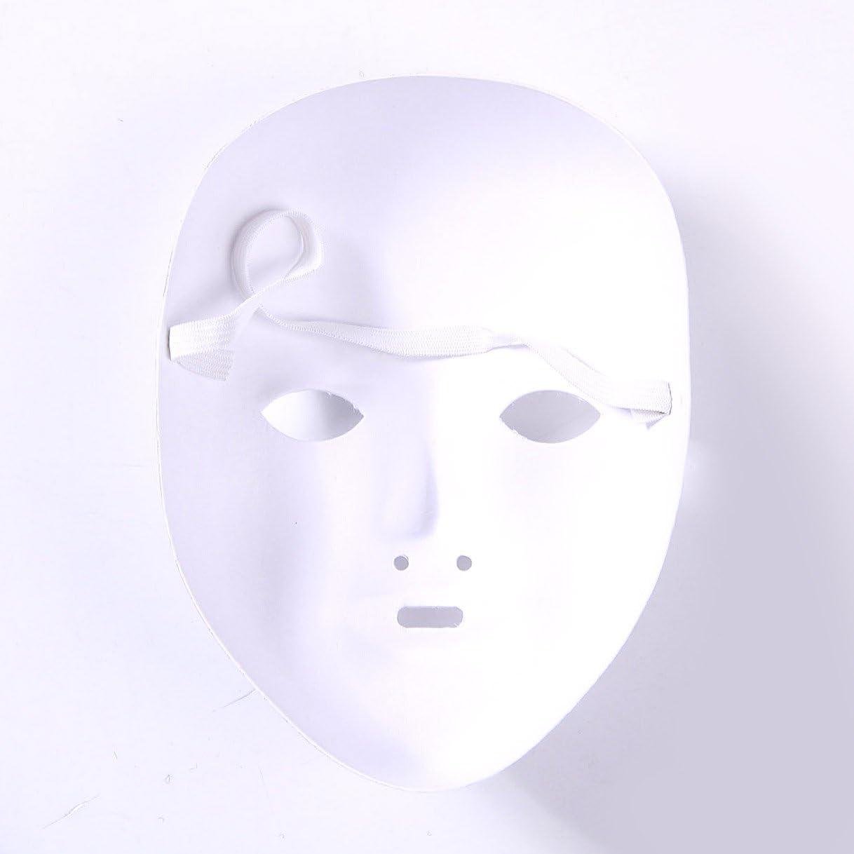 Tinksky Masque Complet de No/ël Masque de Peinture Bricolage 6pcs Costume de No/ël Masque Blanc Vierge de p/âte pour la Peinture de Bricolage 6pcs