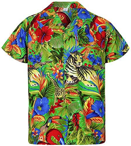 o Hawaiienne Vert Xs 12xl Chemise Funky h V 5R8UnS