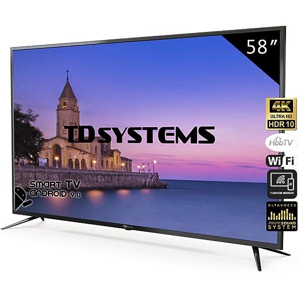 Television Smart TV 58 Pulgadas 4K, Android 9.0 y Hbbtv, UHD HDR10 ...