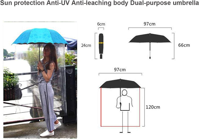 Portable Umbrella Sun rain and Wind Automatic Folding Umbrella ASLDZL Curved Folding Type Suitable for Rainy Days Umbrella Umbrella