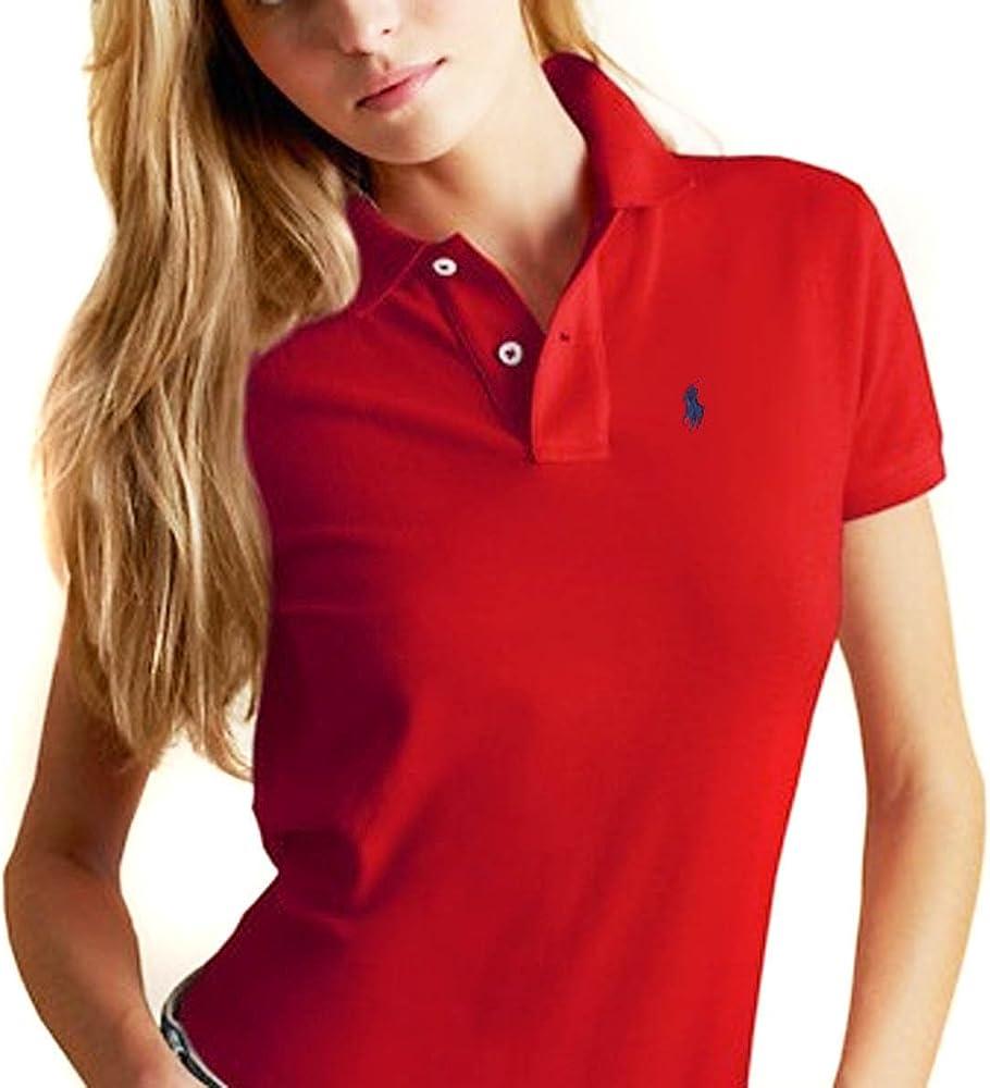 Ralph Lauren - Polo - para mujer Rojo rojo/azul marino: Amazon.es ...