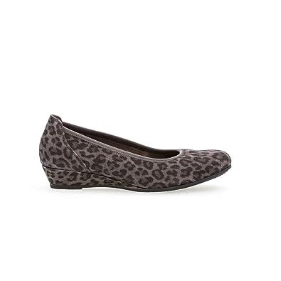Gabor Ballerines Grises Gris Amazon Fr Chaussures Et Sacs