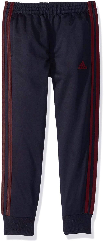 adidas Boys' Jogger Pant (2T, Navy/Burgundy)