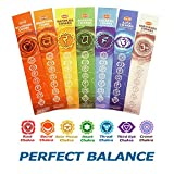 Incense 7 Chakras Incense Natural Meditation Premium Incense Sticks from Root to Crown 35 Sticks Set Gift Pack - Perfect Balance Seven Chakras Incense for Healing, Yoga, Meditation, Aromatherapy