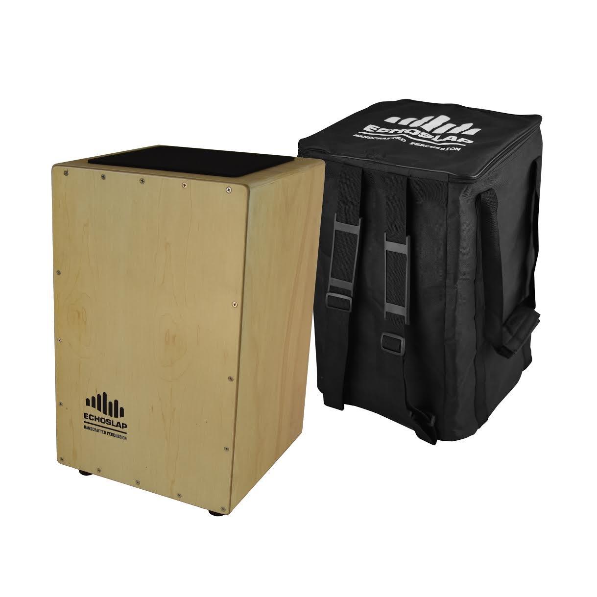 Echoslap Siam Oak Super Snare Cajon - Hand Tested, Siam Oak Body, Maple Frontplate Plus Free Gig Bag by CNZ Audio