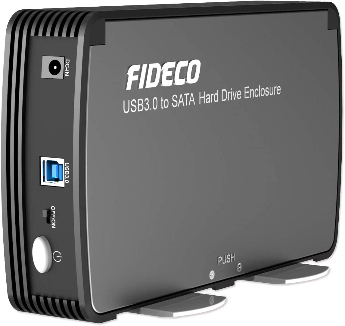 Hard Drive Enclosure 3.5 In SATA III to USB 3.0 Full Aluminum HDD External Case