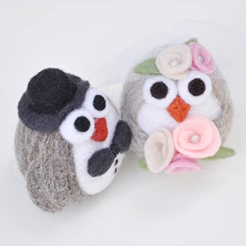 Amazon Com Owl Wedding Cake Topper Needle Felted Animal Wedding