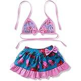 Kids Baby Girls Floral Swimsuit Bikini Set Children's Swimwear Kids Girls 2 Pieces Skirt Swimwear Sets Bathing Suit 2-8Y