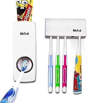 iLifeTech blanco modo dispensador de pasta de dientes y soporte para cepillo juego de familia