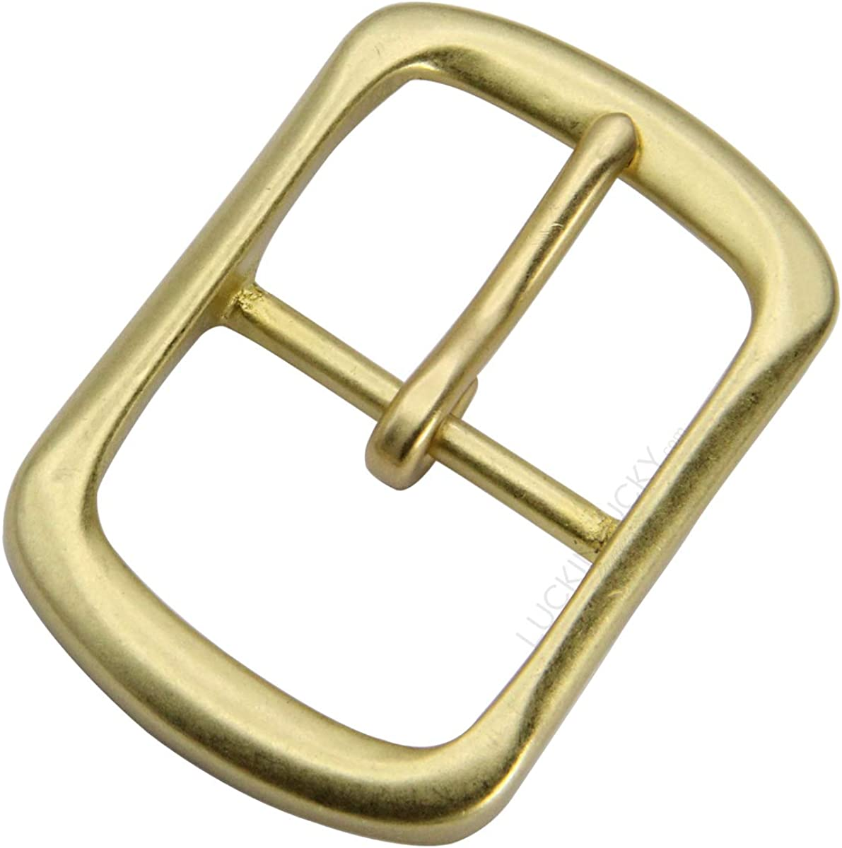 """LUCKINLUCKY Solid Brass Belt Buckle,Replacement Belt Buckle for 1 1/2""""(38mm) Wide"""