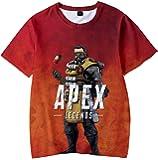 Pandolah ボーイズ シャツ Tシャツ カットソー スウェット 3Dプリント ゲームロゴ APEX LEGENDS エーペックスレジェンズ キャラクター 半袖