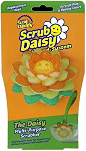 Scrub Daddy, Scrub Daisy Dishwand Replacement Head - The Daisy Multi-Purpose Scrubber, Non-toxic, Deep Cleaning, Versatile, Flexible, Scratch Free, Dishwasher Safe, Stain and Odor Resistant, 1p