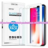 OMOTON 3D Touch 0.26mm Tempered Glass Screen Protector for Apple iPhone X/XS (Clear, 2 Packs)
